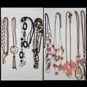 Lot of 9 Fashion Jewelry Necklaces Pendants Tassel